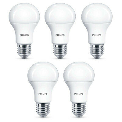 5x Philips LED Frosted E27 100w Warm White Edison Screw Light Bulbs Lamp 1521lm