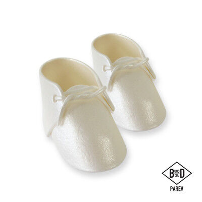 Pme Cake Handcrafted Sugar Sugarcraft Decoration Topper - Baby Bootee Pearl