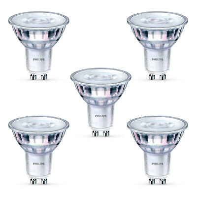 5x Philips LED Glass GU10 50w A+ Dimmable Spot Light Bulbs Lamp 350lm Warm White