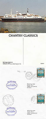 Bahamas Cruise Ship Ms Polaris 2 Ships Cached Covers & An Unused Colour Postcard