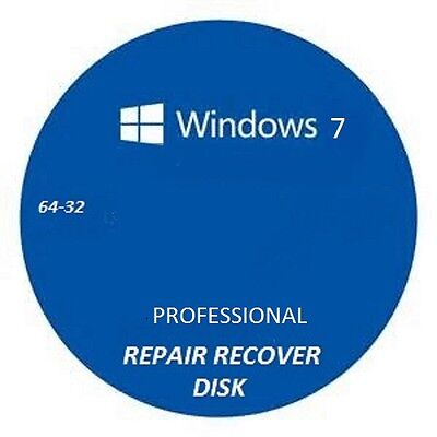 windows 7 repair recovery disk pro 32-64 plus free pc boot repair disk