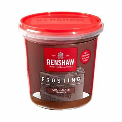 Renshaw Ready Made Chocolate Frosting Icing For Cakes & Cupcakes Decorating 400g