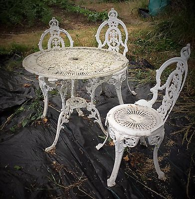 Wunderbar Cast Iron Style Garden Furniture Cast Aluminium Victorian Design Table U  Chairs With Aluminium Sthle Garten