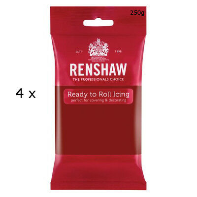 1 Kg Renshaw Ready To Roll Icing Fondant Cake Regalice Sugarpaste RUBY RED