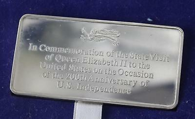 American Indepence Silver Ingot 1976 .925 silver Danbury Mint