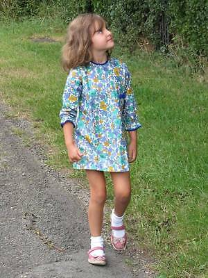 vintage little girls floral summer dress cotton flower power new 70's age 6