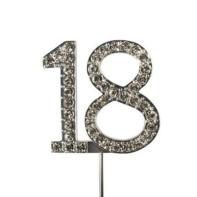 Culpitt 18 DIAMANTE NUMBER Topper Wedding Anniversary Birthday Cake Decorations
