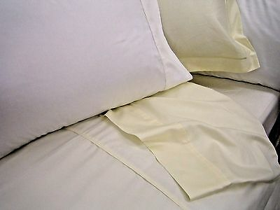 """Clearance Quality 400 Thread Count Pima Cotton Sateen Luxury 15"""" Deep Box Sheets"""