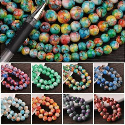 Wholesale Bulk 6mm/8mm/10mm/12mm Round Charms Glass Loose Spacer Beads Findings