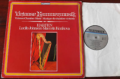 Virtuoso Harp Music Lp Telefunken 6.42628 Nm- Ravel Debussy Johnson Kozickova