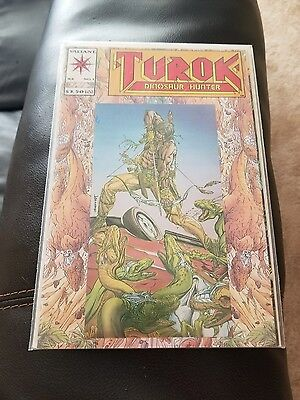 1993 Turok Dinosaur Hunter #1 Valiant Comics #1 Embossed / Foil Cover Vf- Nm