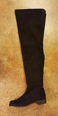 5756c156b75 New! Stuart Weitzman Suede Over The Knee Boots Black Womens Size 9 M MSRP   798