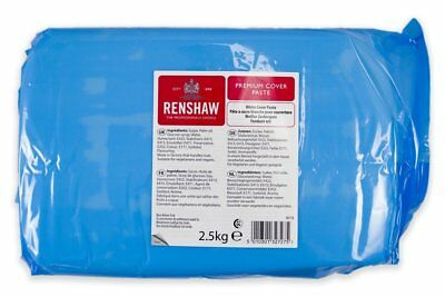 White Renshaw Ready To Roll Premium Cover Paste Icing Fondant Cake Bulk 2.5kg