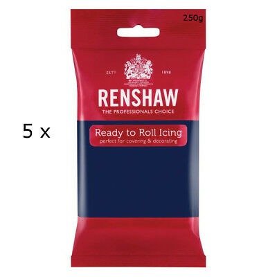 1.25 Kg Renshaw Ready To Roll Icing Fondant Cake Regalice Sugarpaste NAVY BLUE