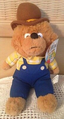"Vintage 1996 Berenstain Bears papa bear 12"" plush NWT! Dad wearing overalls/hat"