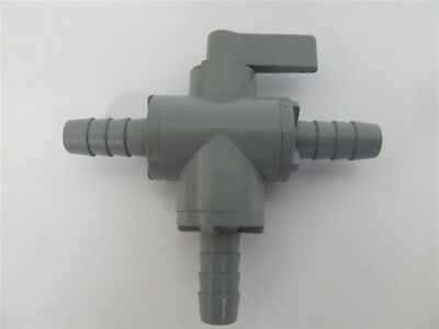 "SMC  6903190, 3/8"" HB, Series 326, 3-Way PVC Ball Valve"