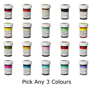 Any 3 x Wilton Icing Color Concentrate Paste Gel Cup cake Food Colouring Baking
