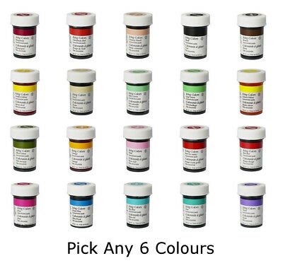 Any 6 x Wilton Icing Color Concentrate Paste Gel Cup cake Food Colouring Baking