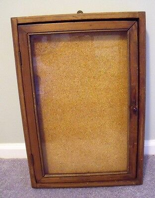 Vintage Wooden Key/Display Case--Great for Collectibles
