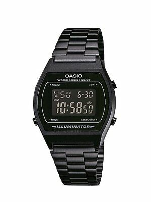 Casio Retro Illuminator Digital Black Stainless Steel 50M B640WB-1B Watch
