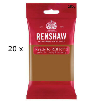 5 Kg Renshaw Ready To Roll Icing Fondant Baking Sugarpaste TEDDY BEAR BROWN