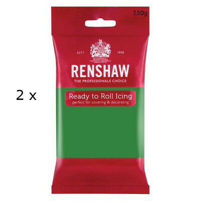 500g Renshaw Ready Roll Icing Fondant Cake Regalice Sugarpaste LINCOLN GREEN