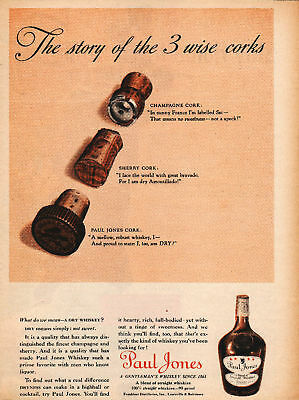 1938 Paul Jones Whiskey Advertisement