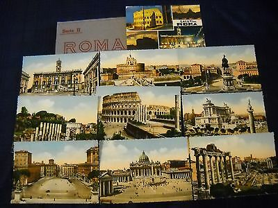 11 Vintage Postcards of Rome (Roma) Italy