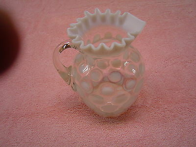 Northwood Glass White Opalesceny Coinspot Pitcher