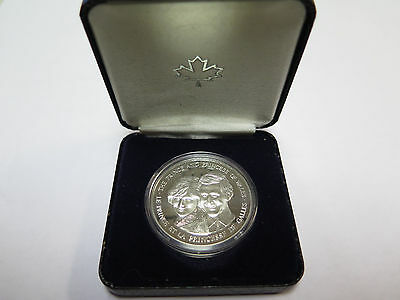 1983 Canadian Royal Mint Prince and Princess of Wales Silver Proof Coin (#1)