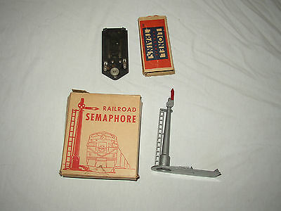 Lionel #41 Accessories Contactor & Marx #0211 Semaphore Lot #c-21