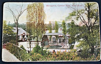 Menagerie Central Park New York NY Postcard PC Circa 1908 Zoo