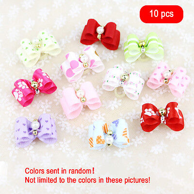 Hot sale pet dog hair bows clips/rubber bands pet grooming hair bows accessories