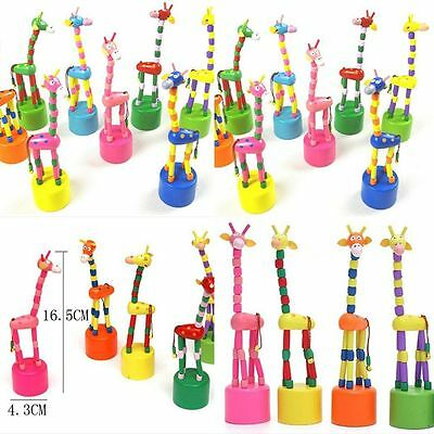 Toy Colorful Garden Animal Puzzles Wooden Dancing Rocking Giraffe Giraffe Toy
