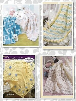 20 Baby AFGHAN Crochet Patterns in Various Sizes 3 4 & 8 Ply