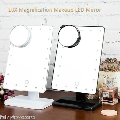 Hollywood Makeup Mirror 20 LED with Lights+10X Magnifier Vanity Lighted Mirror