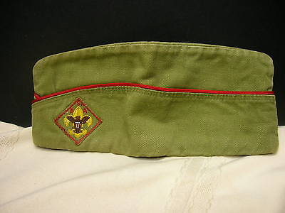 Vintage Boy Scout Hat Green Medium 6 3/4 - 6 7/8