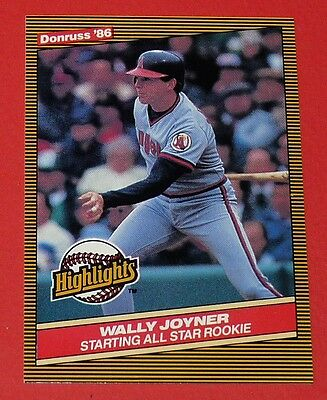 # 23 Wally Joyner California Angels Baseball Card Donruss Usa 86 Leaf 1986