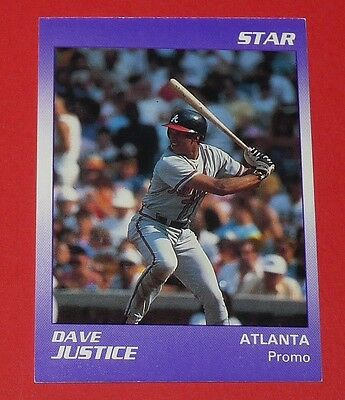 Star Dave Justice Atlanta Braves Baseball Card Promo