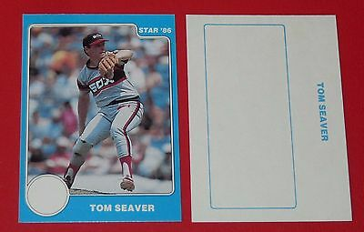 Tom Seaver Star 86 White Sox Chicago Baseball Card 1986