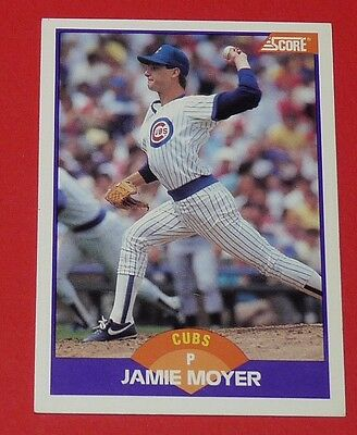 Jamie Moyer Cubs Chicago Baseball Card Score Usa 1989