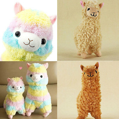 "6.7"" 8.7'' Large Rainbow Alpacasso Alpacasso Kawaii Alpaca Llama Plush Toy Doll"