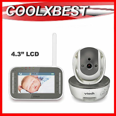 "New Vtech Bm4500 4.3"" Lcd Pan & Tilt Audio Video Baby Monitor Talk Back"