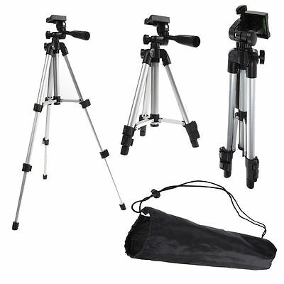 Flexible Portable Aluminum Tripod Stand With Bag For Canon Nikon DSLR Camera New