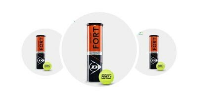 Dunlop Fort Clay Court Tennisball  3 x 4er Dosen 12 Bälle