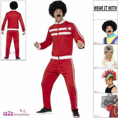 Mens 80s Scouser Costume Tracksuit Trackie 118 Adult Stag Do Fancy Dress