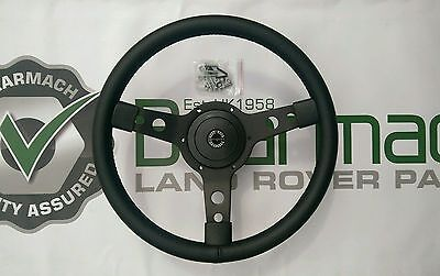 Land Rover Series 2a, 3, 14 inch Steering Wheel & Spline Boss adapter, BA153