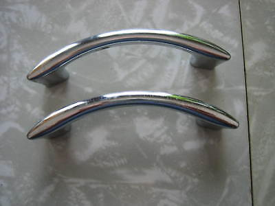 Vintage Lot of 2 Chrome Kitchen Cabinet or Drawer Pull
