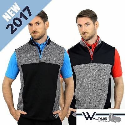 NEW 2017 Walrus 1/4 Zip Sleeveless Mens Golf Pullover Sweater - 2 Great Colours