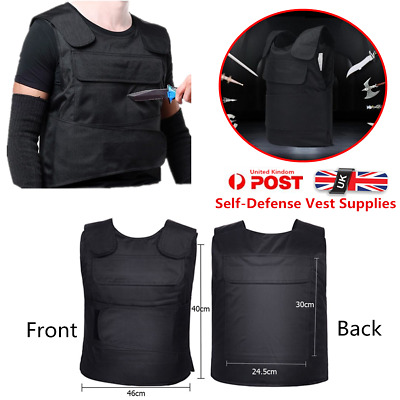 UK Anti Stab Vest Stabproof Anti-knifed Security Defense Body Armour Men Vest BG